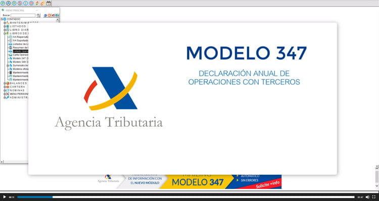 No olvide presentar el <b>modelo 347</b> a Hacienda