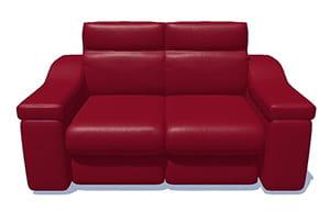 Sofa 3D rojo